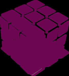 Cube clipart purple Com  vector White Clip