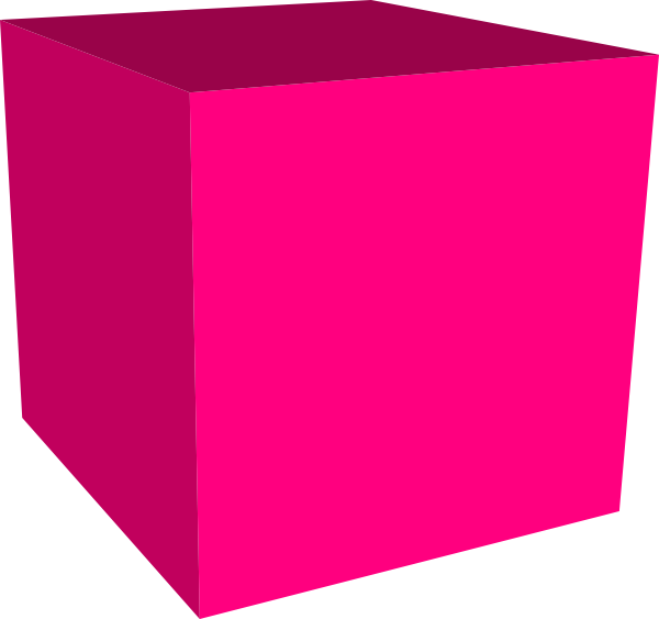 Cube clipart rectangle Clip art com Pink image