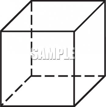 Cube clipart rectangle Black white black Cube white