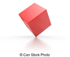 Cube clipart red Illustrations Cube EPS white
