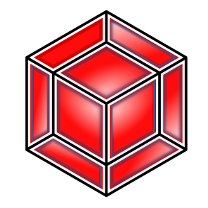 Cube clipart red Art Cube Hyper Cube Red