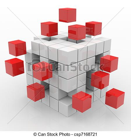 Cube clipart red Computer  Clipart image assembling