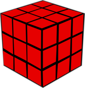 Cube clipart red Clker clip online Olap