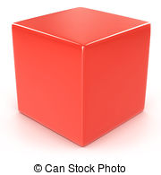 Cube clipart red Cubes 94 red Stock illustration