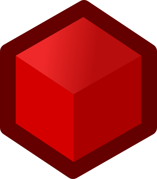 Cube clipart red Vector online  Cube art