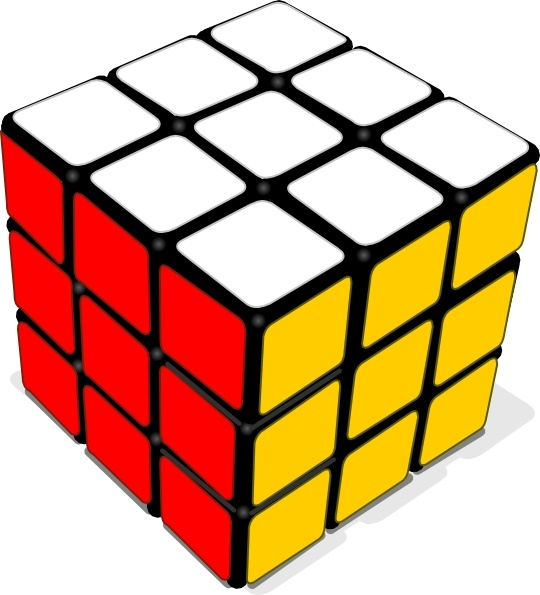 Cube clipart rubicks (20 Free vector Rubik commercial