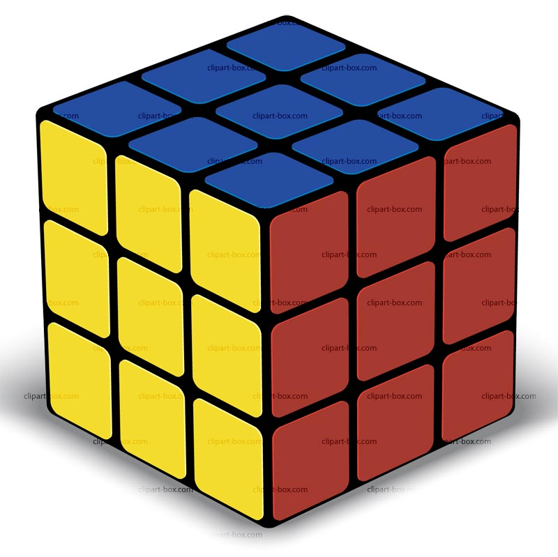 Cube clipart rubik's cube Box ClipartFest Rubix art clipart