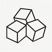 Cube clipart sugar cube · Royalty Free icon GoGraph