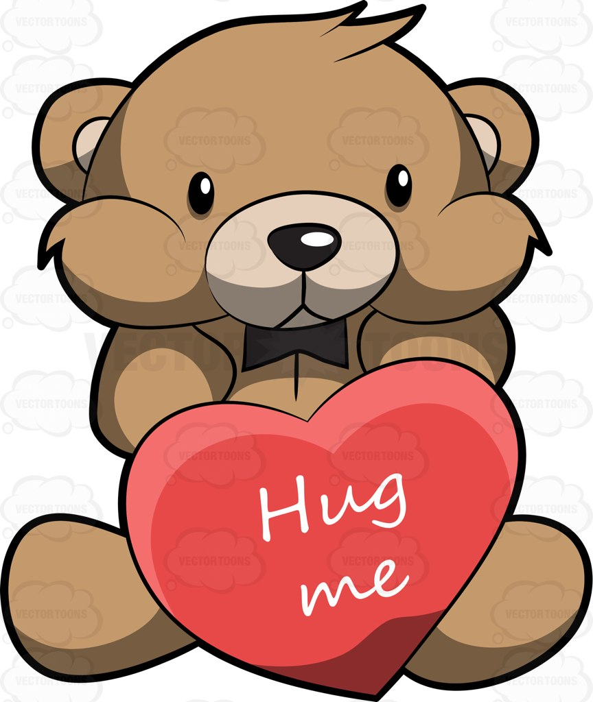 Cuddle clipart adorable Teddy A Asking Hug For