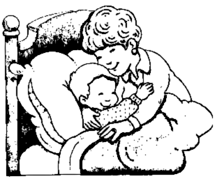 Cuddle clipart black and white #6