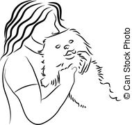 Cuddle clipart black and white #13