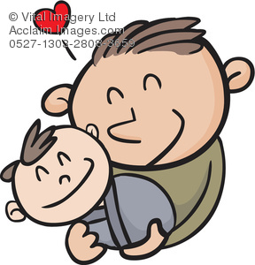 Cuddle clipart cartoon A a Dad Holding Holding