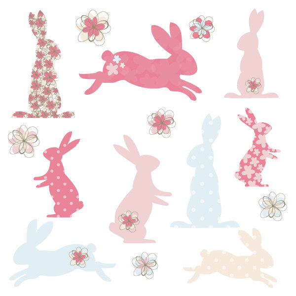 Cuddle clipart cute bunny Shapes and Digital Pink Digital