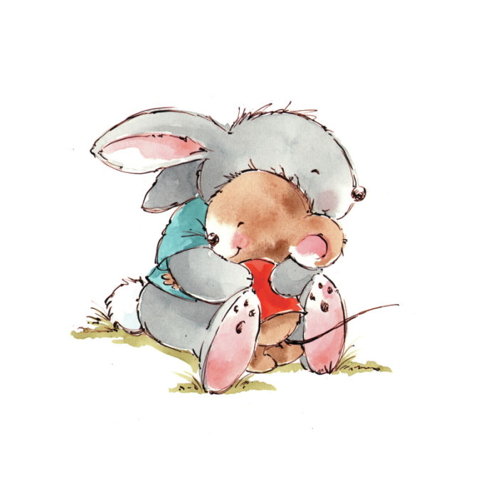 Cuddle clipart cute bunny Butterley cuddle mouse Cute Rabbit