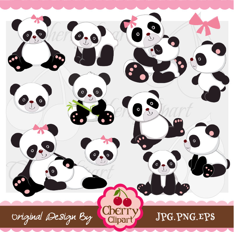 Cuddle clipart family Commercial Personal Card Digital Panda