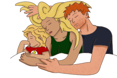 Cuddle clipart family By Family on Family West