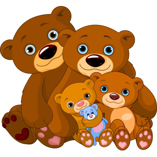 Cuddle clipart family On emoticon Bear Cuddly Family