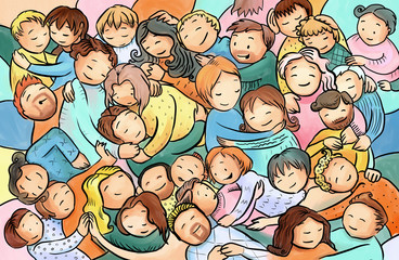 Cuddle clipart family hugs Photos people a cuddle