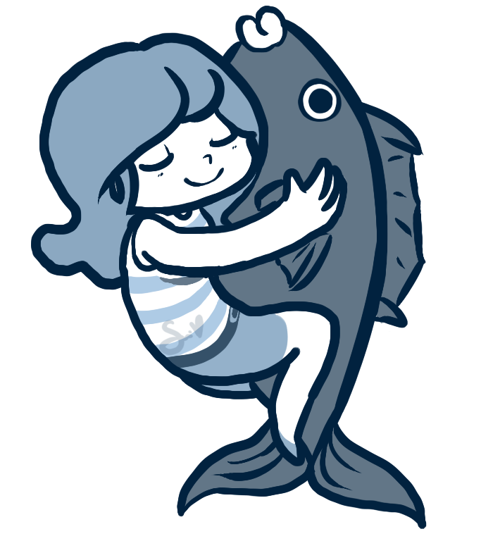 Cuddle clipart fish 54 DeviantArt adorability by miss