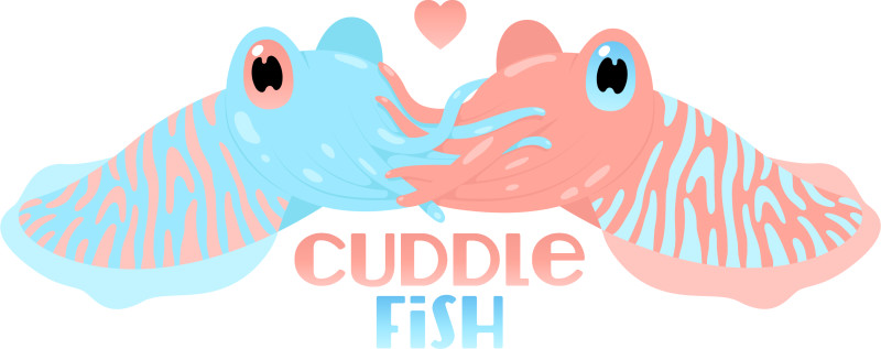 Cuddle clipart fish Pink TeePublic Shirt  Cuddle
