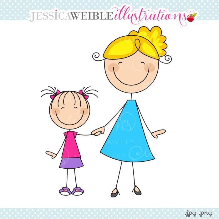 Mommy clipart mother daughter JW Figure Figure Clipart Daughter