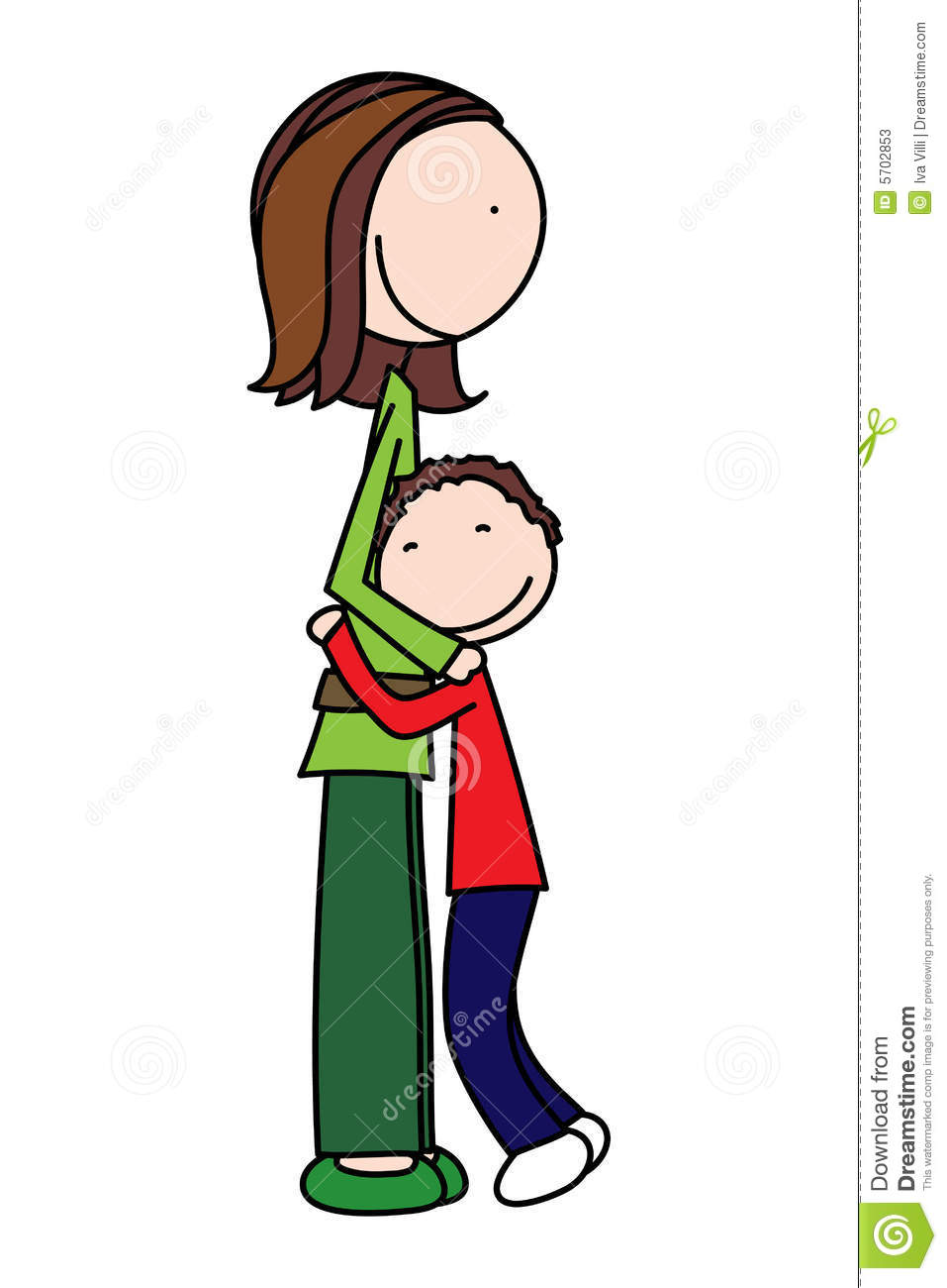Cuddle clipart mom kid And art Hugging and hugging