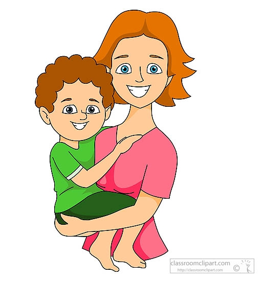 Cuddle clipart mom kid And and clipart mom mom