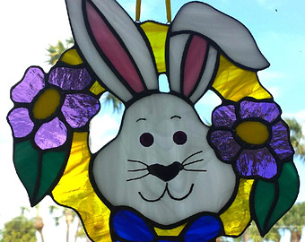 Cuddle clipart spring bunny Etsy Real Cuddly Glass Rabbit