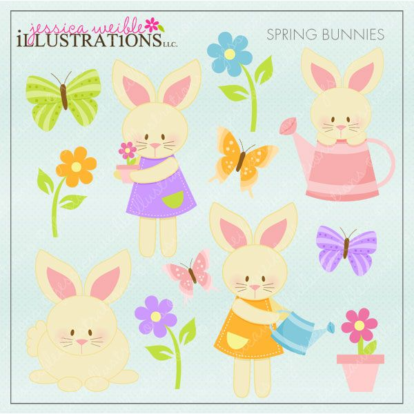 Cuddle clipart spring bunny Best set Spring images with