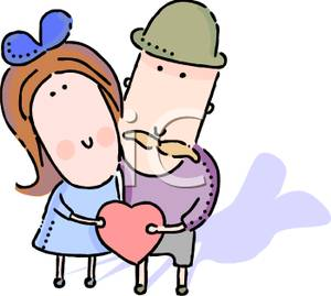 Cuddling clipart Valentine A Red Red a