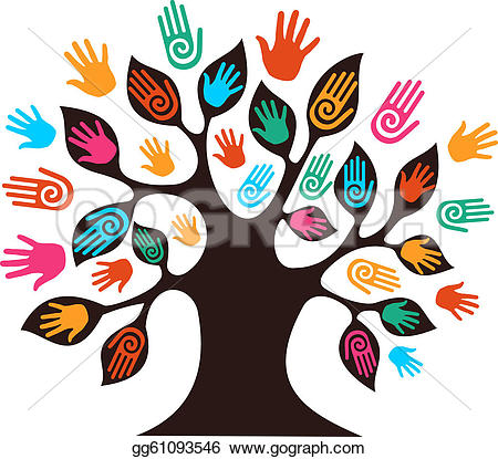 Community clipart diverse family Diversity Free tree Royalty GoGraph