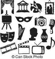 Culture clipart black and white Culture  Stock 236 vector