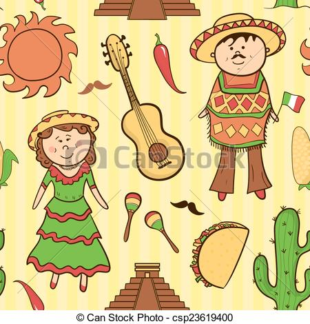 Culture clipart cartoon Seamless csp23619400 in vector of