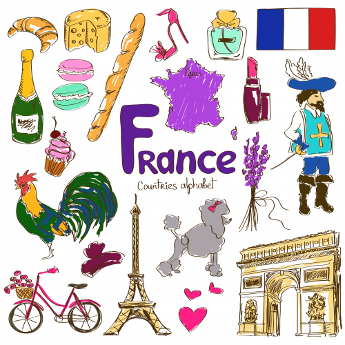 Culture clipart child Geography Kids BUNDLE of France