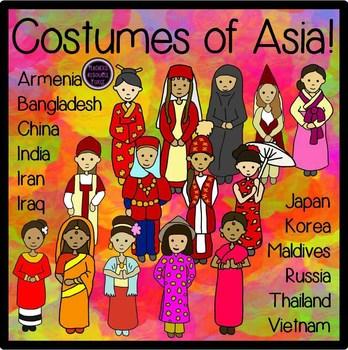 Culture clipart continent Clip Asian costumes Clip costumes