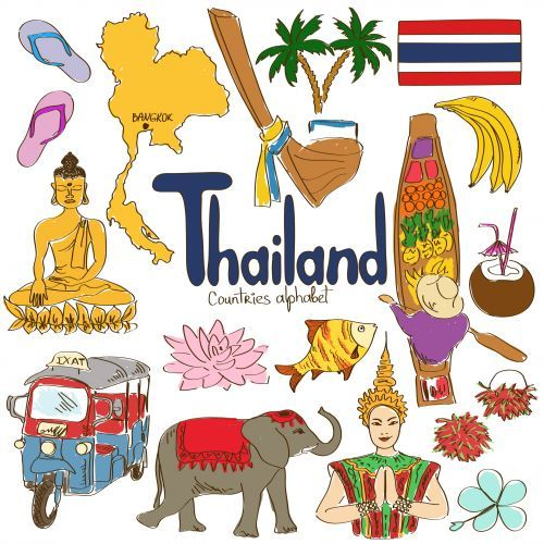 Culture clipart flags Best Thailand on Map Pinterest
