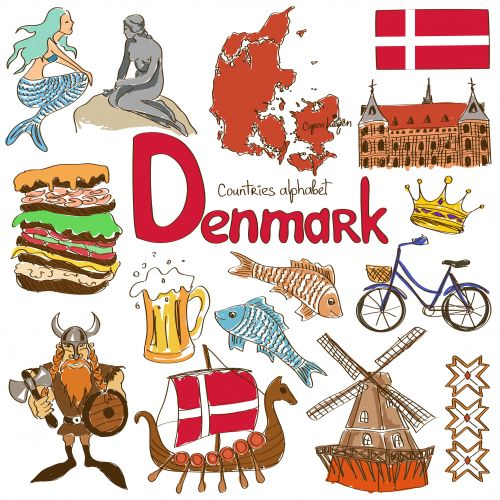 Culture clipart flags Printable Pinterest Denmark World Passport