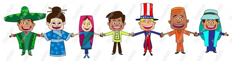 Culture clipart multi Multicultural Clipart Multicultural cliparts People