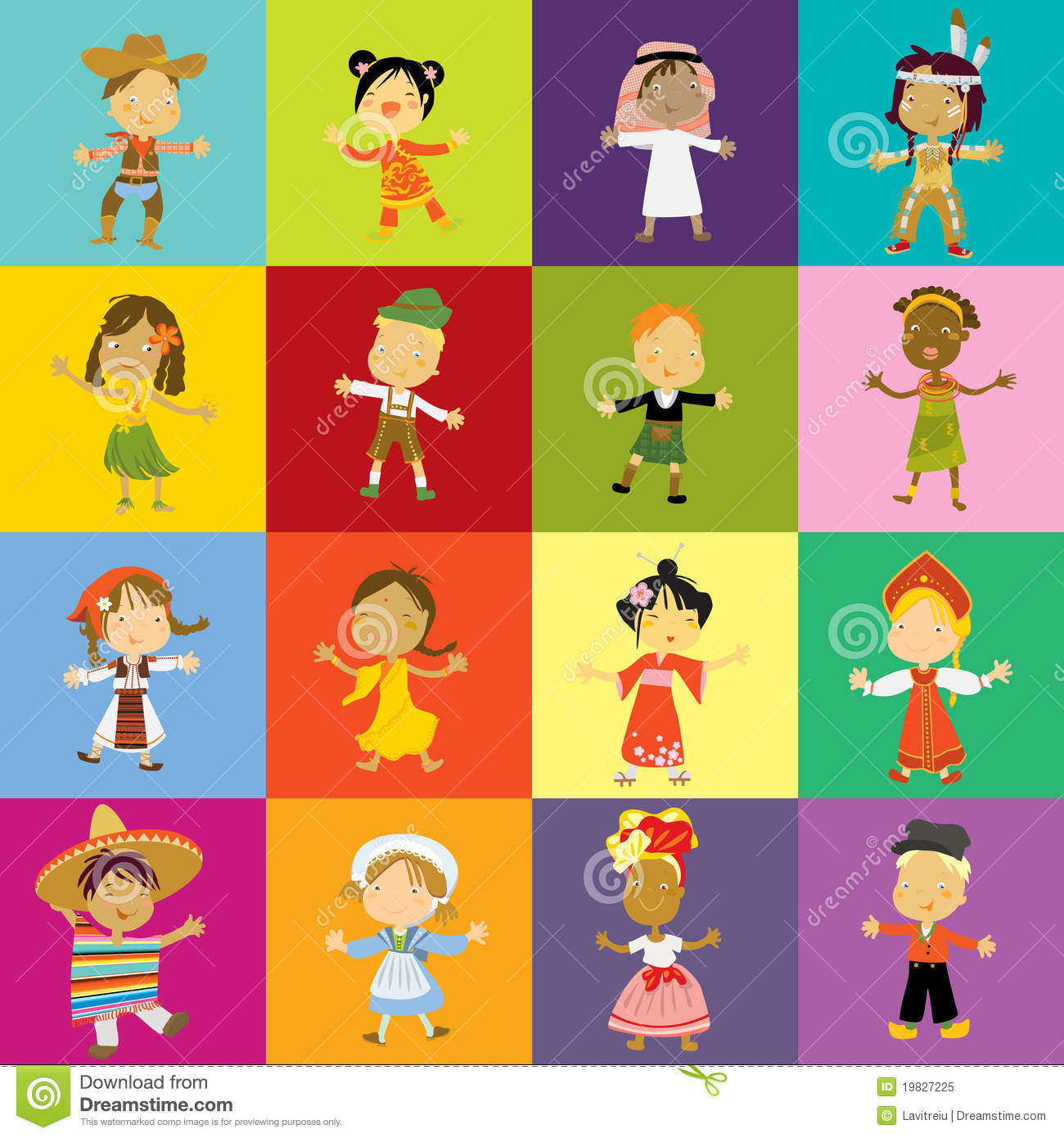 Culture clipart school diversity Royalty Preview Kids Cultures Collection