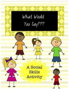 Culture clipart social skill  Activity Room pages Social