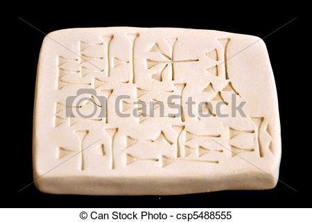 Cuneiform clipart Csp5488555 Images  Ancient Tablet