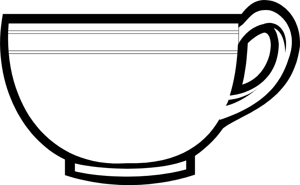 Teacup clipart outline Cup Cup collection clipart Savoronmorehead