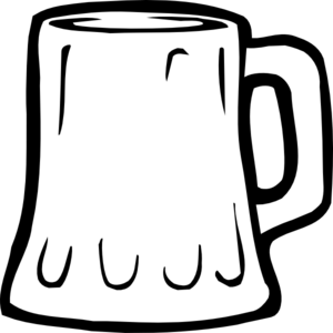 Beer clipart black and white Clipart White Clipart Glass