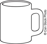 Mug clipart black and white Cup 482 black Clipart Coffee