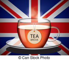 Teacup clipart british English abstract tea of english