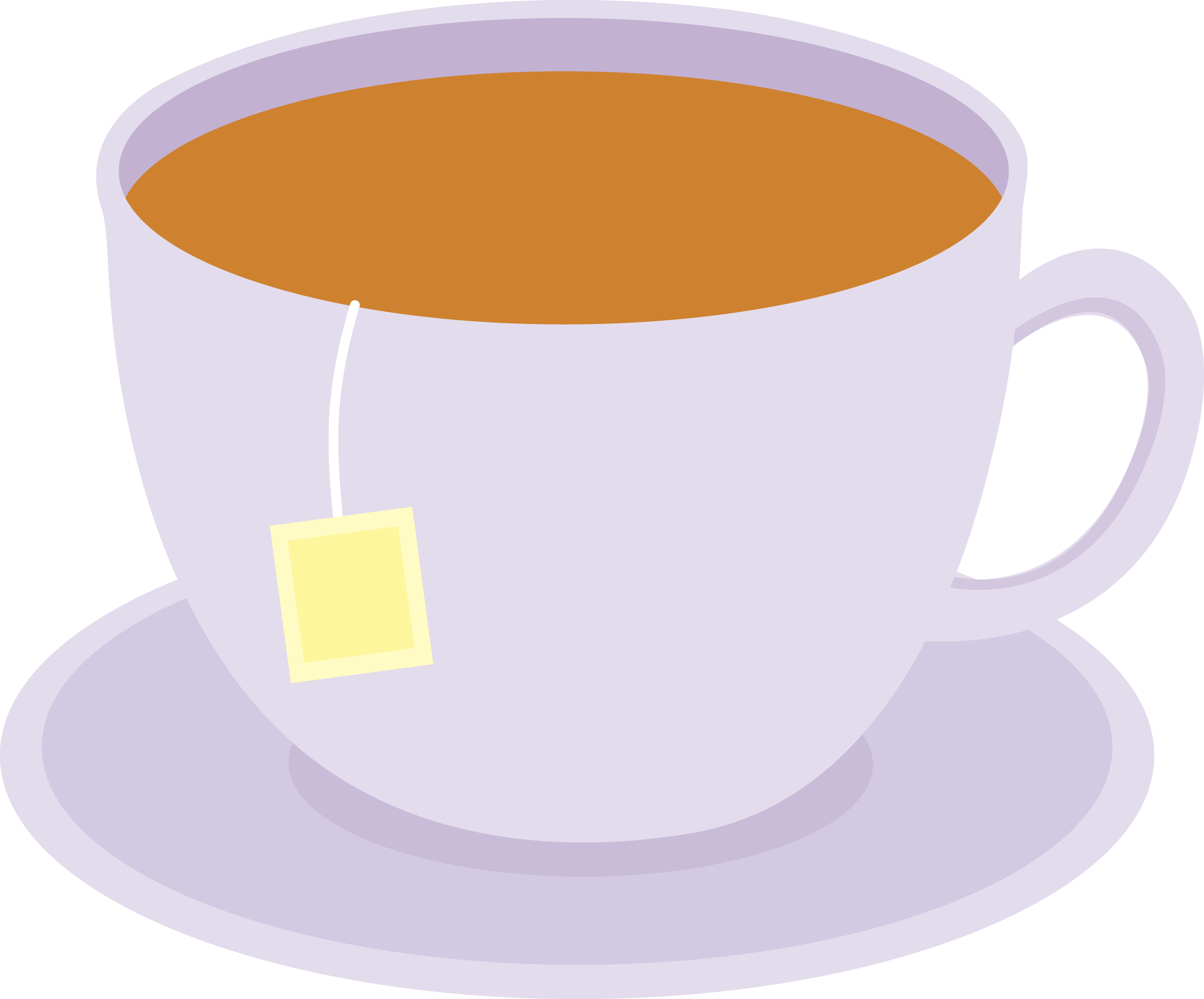 Mug clipart cup plate Dish Teabag of Tea on