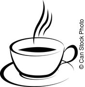Coffee clipart black and white Coffee monochrome; art 176x179 Seamless