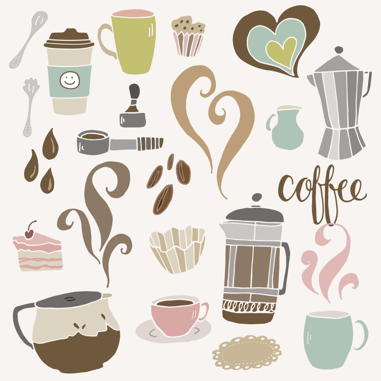 Coffee clipart cute  Coffee Espresso Shop French