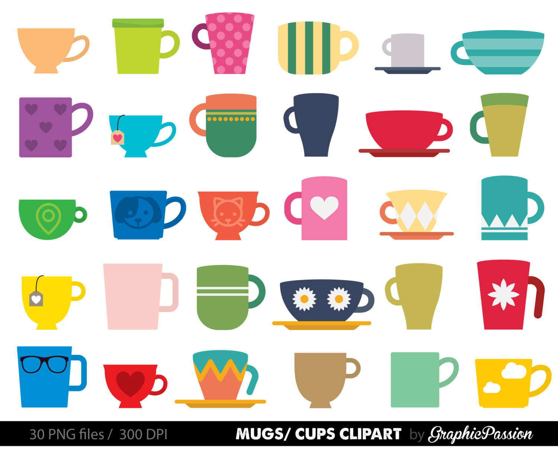 Mug clipart full cup Mugs art clip art Crafts