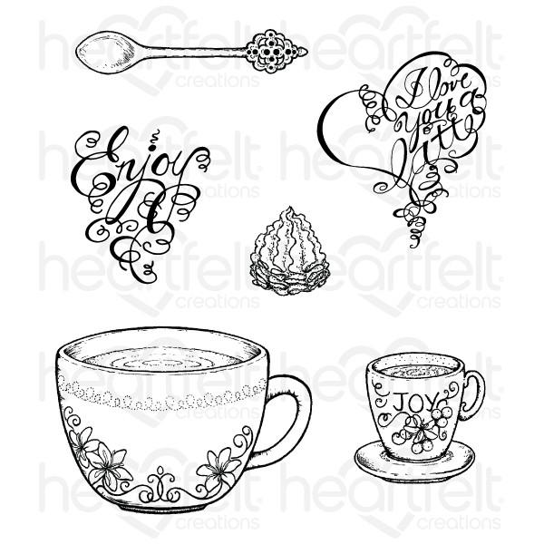 Cup clipart coffee talk Coffee  Set Stamp Talk